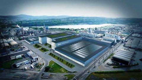 FRAMTIDA? Slik kan Elkem sin batterifabrikk på Herøya bli sjåande ut.