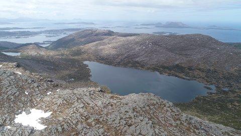 SAGAVATNET: Her ser vi Sagavatnet- drikkevasskjelda til Florø by. No må kommunen få på plass reservevasskjelde.