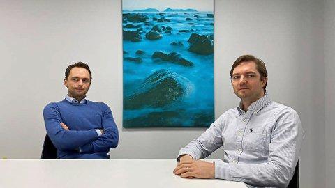 GADUS-GRUPPEN: :Ola Kvalheim (t.v.), har fått med seg Tor Olav Seim (t.h.), Kenneth Brandal og eit belgisk investeringsselskap på satsing innan torskeoppdrett.