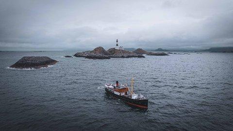 YTTERØYANE: Fyrsafari-turen med Atløy går innom Ytterøyane fyr.