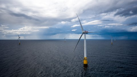 Buchan, Skottland 20170815.  Equinors Hywind Buchan vindmølleanlegg  utenfor Skottland- Foto: Øyvinf Gravås / Equinor / NTB