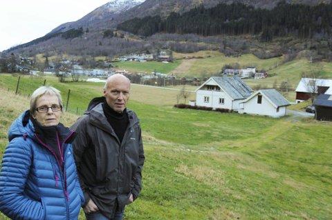 NÆRINGSAREAL: I 2014 vart arealet med både garden og bustaden til Einar og Elsa Gautefall omdisponert til næringareal. No håpar Gautefall at kommunen vil endre tilbake.