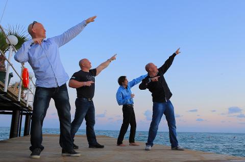 Vil opp og fram. Fra venstre: Roy Øvstedal, John Kenneth Kittang, Egil eide og Jan Hallstensen