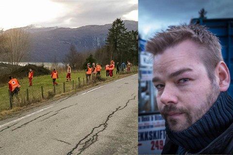 Funnet av det som etter alt sannsyn er Per-Arne Hestenes (35), vart gjort i nærleiken av området som klarsynte Michael Winger (til høgre) peika ut på førehand.