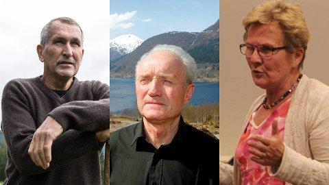 Magnar Juklestad (f.v.), Jarle Helgheim og Gerd Dvergsdal er tre av dei som går i bresjen for ei ny folkerøysting.