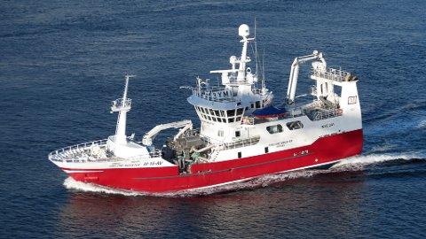 NY BÅT: Jan Arve Heggøy og broren Frode har kjøpte denne båten for ein halv milliard kroner.