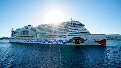 Aida Perla blir det første cruiseskipet som klappar til kai i Nordfjordeid når den nye cruishamna opnar neste år. Foto: Aida Cruises