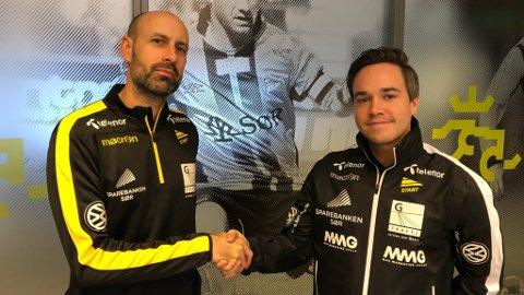 NY SJEF: Atle Roar Håland (t.v) og Alexander Øren (t.h) går begge inn i nye stillingar.