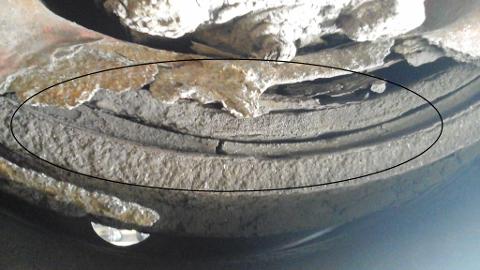 BELEGG: Køyretøyet fekk mangel på bremsebelegg.