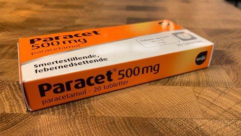 FARLEG: Éin tablett med 500 mg paracetamol, kan vere dødeleg for spedbarn.