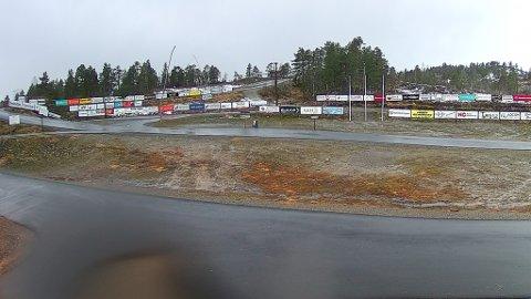 REGNA BORT: Snøen som fall torsdag i veka regna bort i løpet av natta. Slik ser det ut på Langeland 31.01.2020.