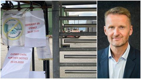 STENGT: 19 av 21 smitta i Hyllestad jobbar ved Havyard-verftet i kommunen. – Det er ein svært alvorleg situasjon, seier administrerande direktør Gunnar Larsen i Havyard Group.