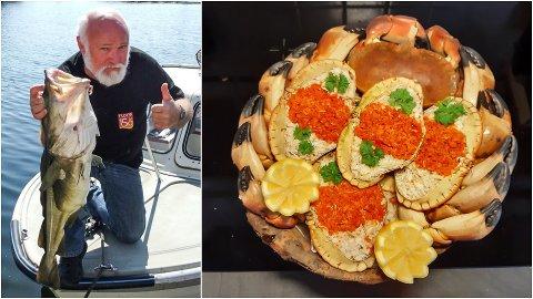 AKTIV PENSJONIST: Magne Bakke (68) har fiska krabbe sidan han gjekk på ungdomsskulen. Men no har han gjort det til ein kunst.