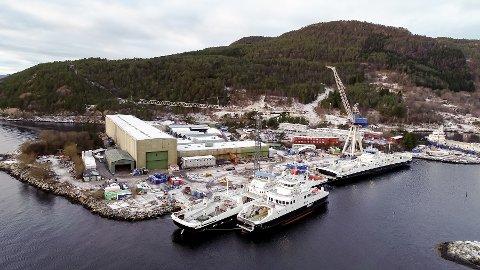 NEDBEMANNAR: Havyard Leirvik har seks båtar som skal bli ferdig bygde i 2020 og 2021. Nedbemanninga skal skje i takt med at nybygga blir ferdige, heiter det i pressemeldinga.
