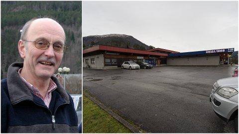 VIL UTVIDE: Her på nordvestsida vil Helge Myklebust og Vie senter AS utvide butikken med 264 nye kvadratmeter.