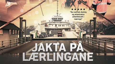 VIL GJERE DET INTERESSANT: Denne plakaten skal få unge til å bli lærlingar hjå Fjord 1.