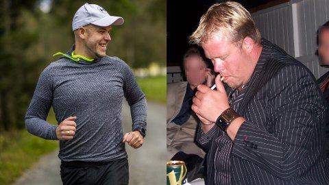 Nytt liv: Morten Eriksen (40) stumpa røyken, slutta å snuse, begynte å trene, la om kosthaldet – og mista 50 kilo.