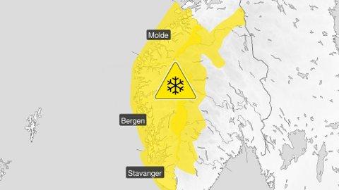 FAREVARSEL: Meteorologisk institutt melder at det kan bli snø i fjellet over 800 meter.
