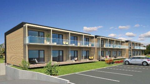 VIL BYGGE: Sparhus Norge AS vil bygge 24 små leilegheiter på Vellebø i Førde.
