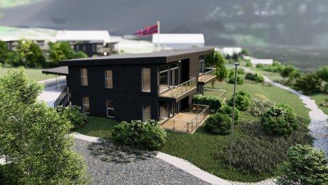 SLIK: Husa blir selde på teiknestadiet. Difor har han lagt ned mykje arbeid i animasjonsvideoen av korleis husa blir sjåandes ut inni og utanpå. Dette er dei same husa som er bygde i Granvin og Ålvik.