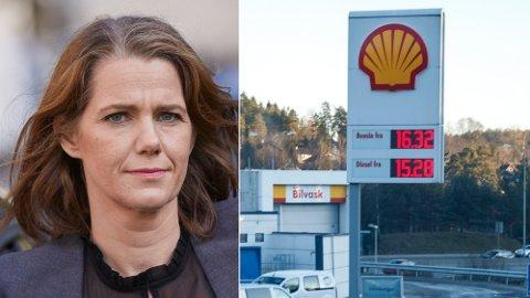KRAFTIG PRISAUKE: Regjeringas klimamelding vil auke bensinprisen til 19,28 kroner per liter. – Usosialt, miener NAF. Foto: NAF/NTB