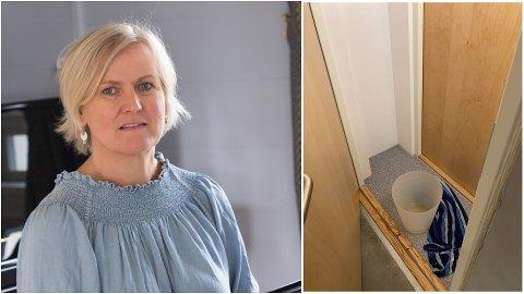 LEKKASJE: Onsdag ettermiddag byrja det å renne vatn inn frå taket på Sunnfjord kulturskule i Førde. – Det var mykje vatn i eine rommet og lite i det andre, seier rektor Trude Skarvatun.