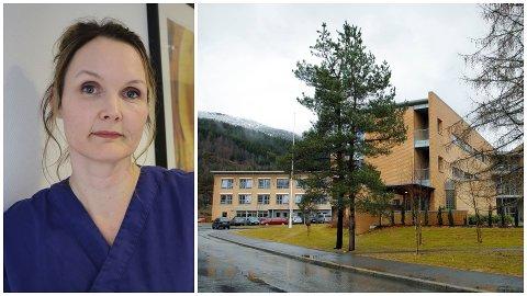 KAN OPNE: Etter ei krevande veke for både bebuarar og tilsete kunne einingsleiar Una Holmelid ved langtidsavdelinga på Førde Helsetun tysdag opne dørene att.