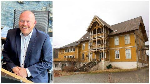 STADFESTAR: Direktør for eigedom i Coop Nordvest, Lars Ove Valaas-Breivik, seier det ikkje blir riving av gamledelen av Jølster hotell.