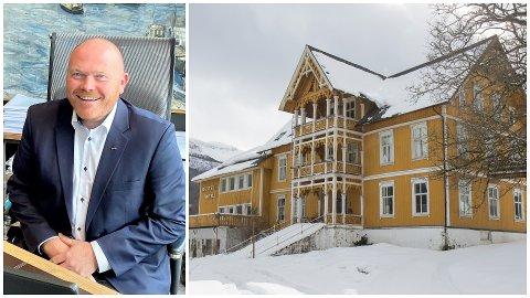 SKAL BLI COOP EXTRA: Jølster Hotell er kjøpt av Coop Nordvest. Om hotellet blir ombygd til butikk, eller om det skal rivast er ikkje avgjort, kan ikkje direktør for eigedom i Coop Nordvest, Lars Ove Valaas-Breivik seier noko om.