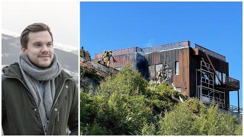 BRANN: Ole Jonny Klopstad Holsen skulle flytte inn i dette huset, som tok til å brenne onsdag.