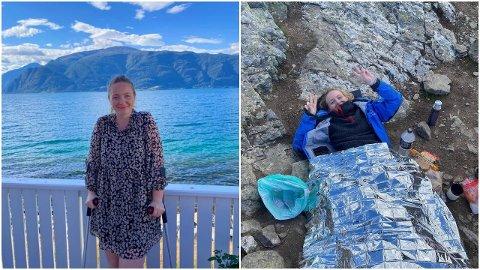 TRAGIKOMISK: - Heile situasjonen er berre komisk, det har ikkje heilt gått opp for meg enno, seier Helena Sæbø Nes (24) om hendinga på Bakkanosi.