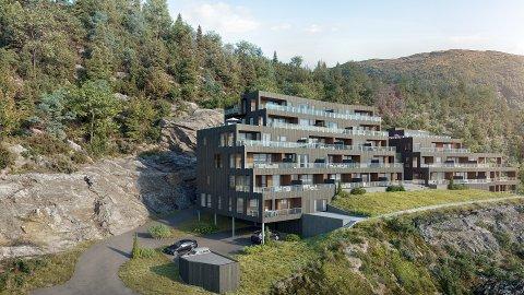 SISTE PROSJEKT: Falkensteintoppen blir det siste prosjektet til Gravdalgruppa på Falkenstein i Førde.
