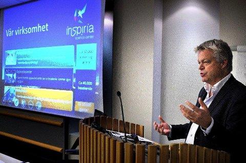 SLITER: Inspiria Science center, her ved administrerende direktør, Geir Endregard, har slitt økonomisk i flere år. I 2018 skal de begynne å betale ned på et lån på 77 millioner kroner, noe som ikke hjelper på problemene til selskapet.