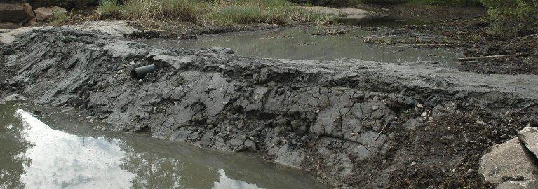Sommeren 2013: Deler av dammen etter at kommunen hadde avsluttet sitt arbeid.Arkivfoto: Terje Antonsen