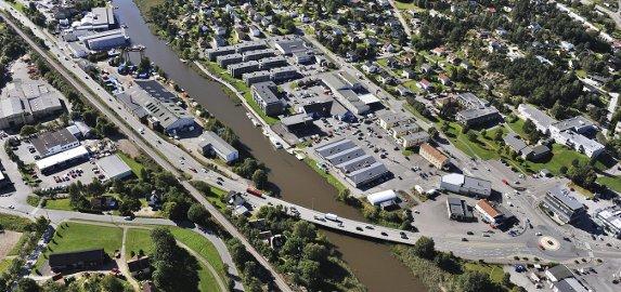 Endrer inngangsporten: Flere bygg på Ørebekk og Seut skal rives for å gi plass til firefeltsveien. Staten dekker 400 av 675 millioner kr. Arkivfoto; Geir A. Carlsson