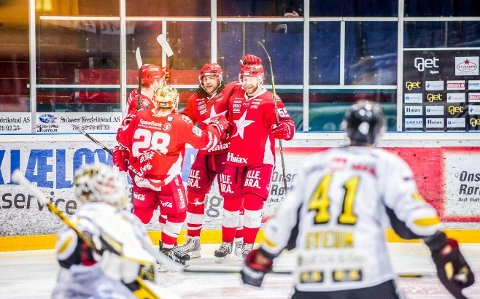 Slo tilbake: Lou Dickenson, Ben Blood og de andre Stjernen-spillerne slo Stavanger lørdag. Nå venter Kongsvinger borte.