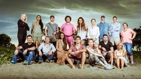 NORGES ELDSTE: Robinsonekspedisjonen startet i 1999, og var Norges første TV-realityserie. Her er årets deltakere. Anders Dahle (21) fra Fredrikstad står som nummer 2 fra høyre i bakre rekke.