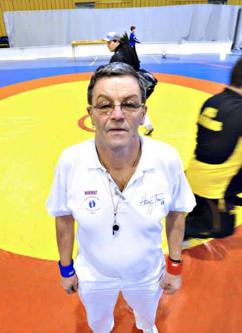 I SITT ESS: Bjørn Carlo Andersen har holdt seg på matta.
