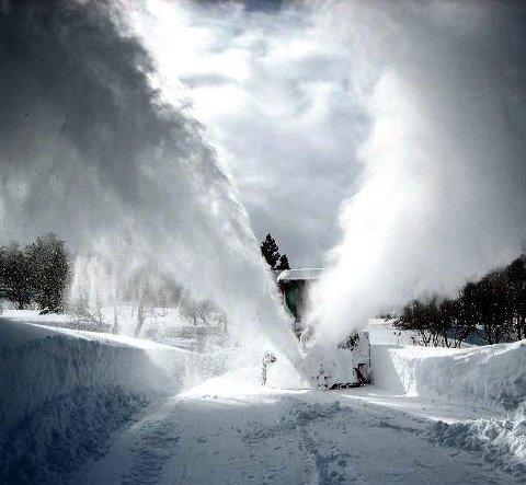 Lenge siden: Det er en stund siden vi opplevde vintre som dette i Fredrikstad. Fredrikstad kommune har hatt store besparelser i brøytebudsjettet det siste året. Arkivfoto: Tom-Johnny Gundersen