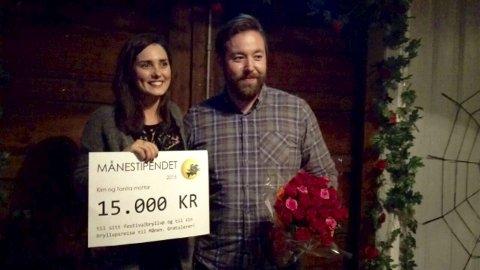 Gifteklare: Tanita Ferre og Kim Torp legger bryllupsreisen til Månefestivalen neste år.8Foto: Privat