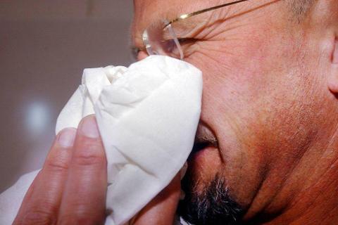 LANG SESONG: Influensasesongen toppet seg rundt jul, men den er ennå ikke over.