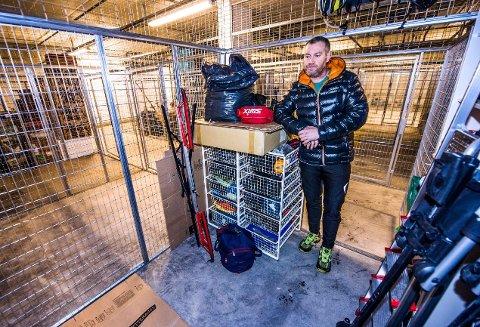 Oppgitt: Terje Hansen er frustrert etter at noen har stjålet syklene hans til en verdi av 80.000 kroner i løpet av helgen.