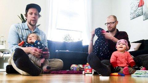 FULL KONTROLL: Anders Ottersten (til venstre)  med Anton og Per Folkeson med Lily lader opp til søndagens NM-finale i innebandy. Foto: Vidar henriksen