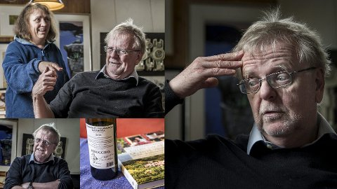 Jubilant: 70 år gammel er Klaus Hagerup fortsatt en aktiv forfatter. Kona Bibbi er sjefen hjemme, og fascinasjonen for italiensk mat og vin deler de. Foto: Geir A. Carlsson
