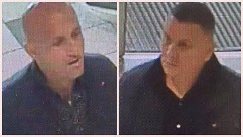 HVEM ER DETTE?: Politiet vil gjerne høre fra personer som drar kjensel på disse to mennene, da de er mistenkt for å stå bak et tyveri fra et kjøpesenter på Tunejordet.