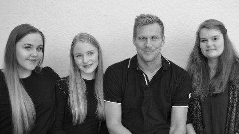 Fra venstre: Marie Lilleås, Caroline Johansen, Lars Ivar Eilerås, og Marianne Skadal.