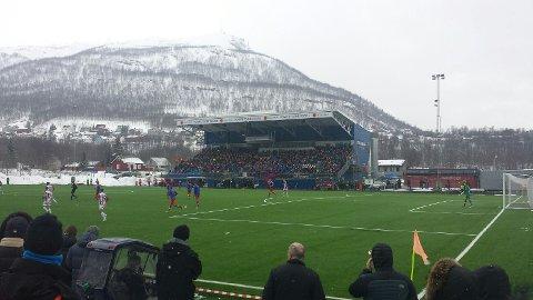 GRATISKAMP: Tromsdalen kan friste med gratis inngang, når FFK kommer på besøk søndag formiddag.