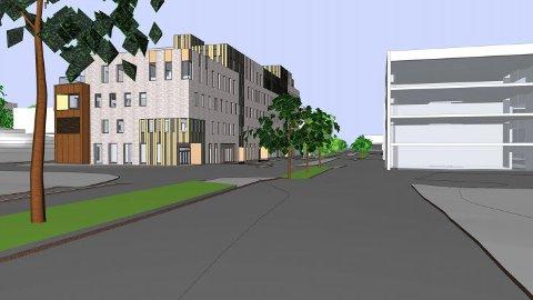 Sett mot vest: Slik vil det nye helsehuset på Værste se ut. Til høsten flytter regnskapsbyrået Bookkeeper inn i bygget.