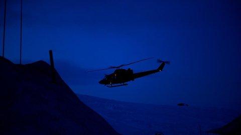 Forsvaret øver med helikoptere på kvelds- og natterstid