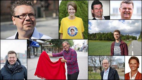 Hvem er hvem? Mange østfoldinger mener stortingskandidatene er for dårlig profilerte. Test deg selv ved å gjette hvilke politikere som er på bildet og hvilket parti de er førstekandidat for. Svaret finner du nederst i artikkelen.